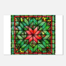 Red and Green Quilt Postcards (Package of 8)