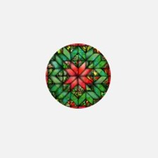 Red and Green Quilt Mini Button