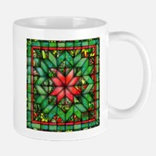 Red and Green Quilt Mugs