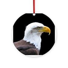 Bald Eagle profile Ornament (Round)