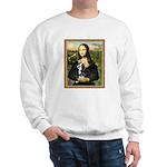 Mona & her Boston Ter Sweatshirt