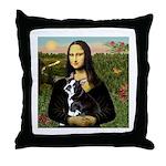 Mona & her Boston Ter Throw Pillow