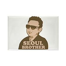 Kim Jong Il: Seoul Brother Rectangle Magnet