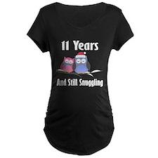 11th Anniversary Snuggling Owls T-Shirt