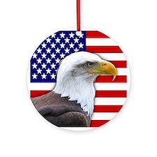 USA flag bald eagle Ornament (Round)