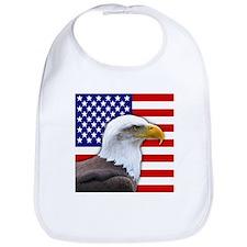 USA flag bald eagle Bib