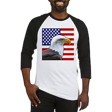 USA flag bald eagle Baseball Jersey