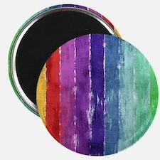 Geometric Stripes Watercolor Magnet