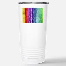 Geometric Stripes Watercolor Travel Mug