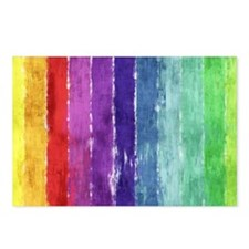 Geometric Stripes Watercolor Postcards (Package of