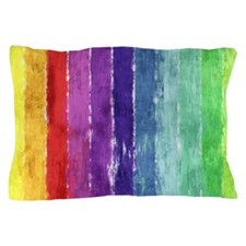 Geometric Stripes Watercolor Pillow Case