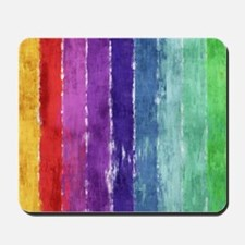 Geometric Stripes Watercolor Mousepad