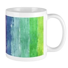 Geometric Stripes Watercolor Mug