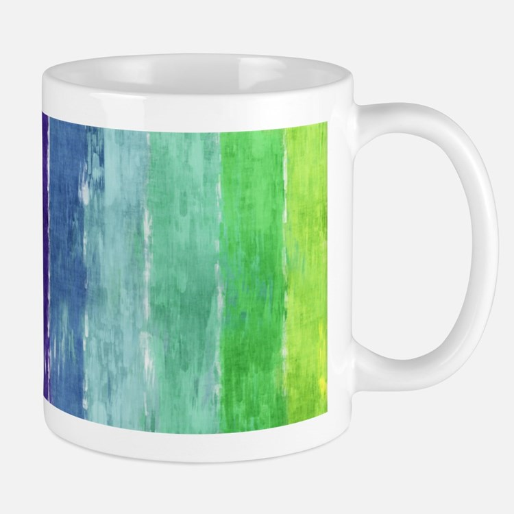 Geometric Stripes Watercolor Small Small Mug
