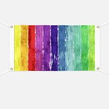 Geometric Stripes Watercolor Banner