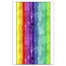 Geometric Stripes Watercolor Large Poster