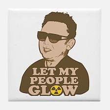 Kim Jong Il: Let my people Glow Tile Coaster