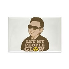 Kim Jong Il: Let my people Glow Rectangle Magnet