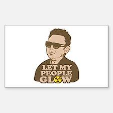 Kim Jong Il: Let my people Glow Sticker (Rectangul