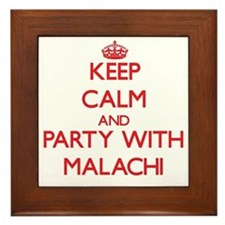 Keep Calm and Party with Malachi Framed Tile