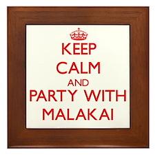 Keep Calm and Party with Malakai Framed Tile