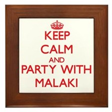 Keep Calm and Party with Malaki Framed Tile