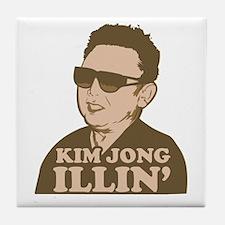 Kim Jong Illin' Tile Coaster