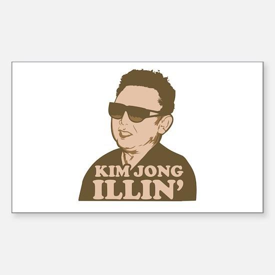 Kim Jong Illin' Rectangle Decal