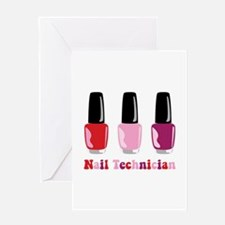 Nail Technician Greeting Cards