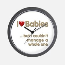 The Baby Catcher's Wall Clock