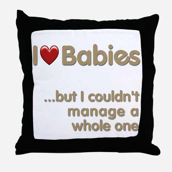 The Baby Catcher's Throw Pillow
