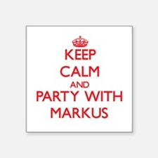 Keep Calm and Party with Markus Sticker