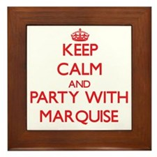 Keep Calm and Party with Marquise Framed Tile