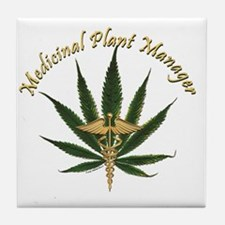 Medicinal Plant Manager ~ Marijuana L Tile Coaster