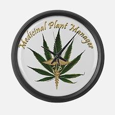 Medicinal Plant Manager ~ Marijua Large Wall Clock