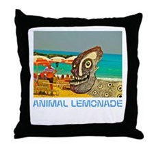 Dog Day at the Beach Throw Pillow