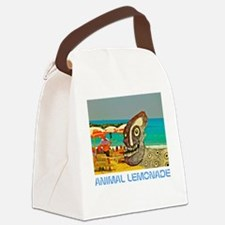Dog Day at the Beach Canvas Lunch Bag