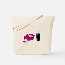 Spilled Nail Polish Tote Bag