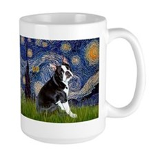 Starry Night Boston Ter Ceramic Mugs