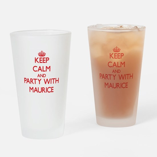 Keep Calm and Party with Maurice Drinking Glass
