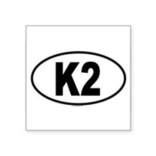K2 Oval Sticker