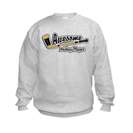 Hockey Player Kids Sweatshirt