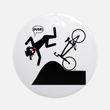 DOUBLES DUDE Magnets, Sticker Ornament (Round)