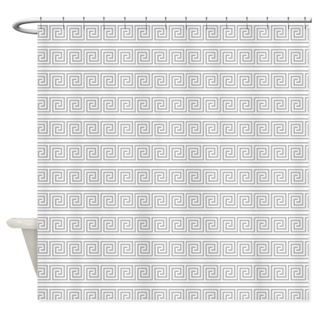 Classical Greek Key Pattern Shower Curtain By Accessorizeme