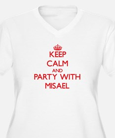 Keep Calm and Party with Misael Plus Size T-Shirt