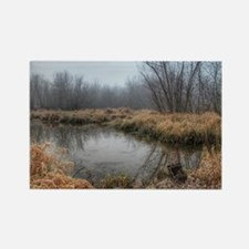Misty Morning At The Lake Of The  Rectangle Magnet