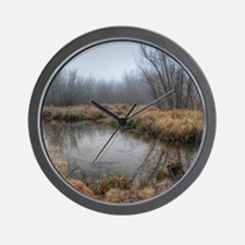 Misty Morning At The Lake Of The Ozarks Wall Clock
