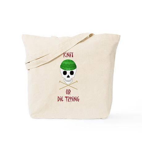 Knit Skull Cap Tote Bag
