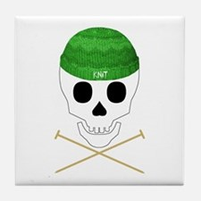 Knit Skull Cap Tile Coaster
