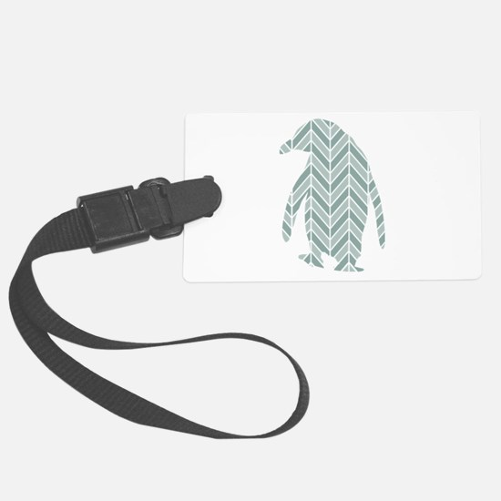 Chevron Penguin Large Luggage Tag